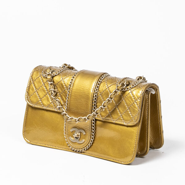 Chanel Gold Turnlock Flap Bag